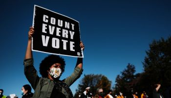 "Protestors Hold ""Count Every Vote"" Protest Rally In Philadelphia"