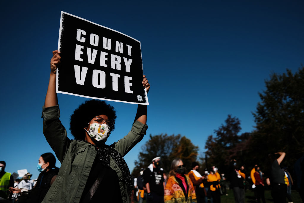 """Protestors Hold """"Count Every Vote"""" Protest Rally In Philadelphia"""