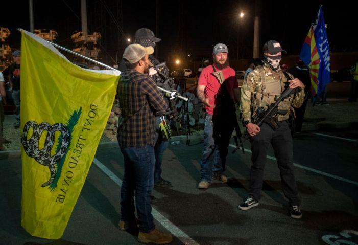 Trump supporters protest in Phoenix, AZ.