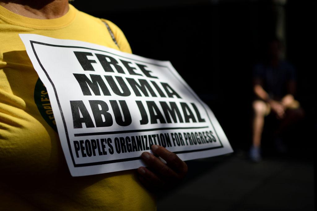 Free-Mumia Protest in Philadelphia, Pennsylvania