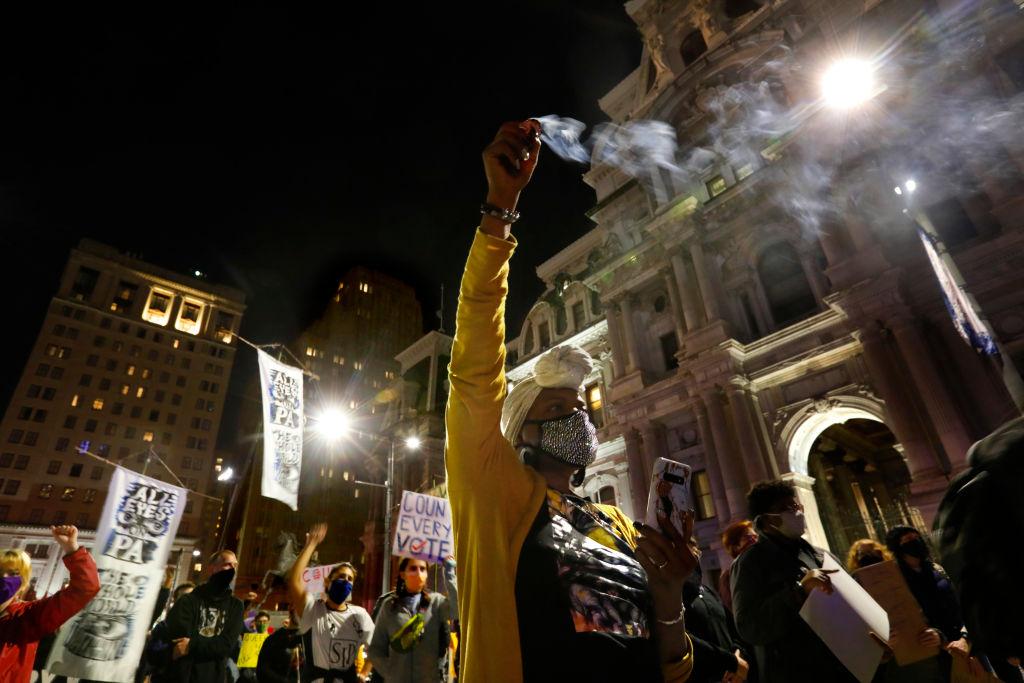 Philadelphia protest march City Hall