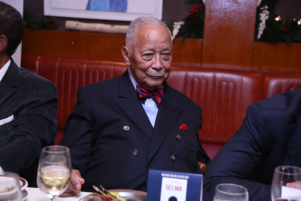 "Former Mayor David Dinkins pictured attending the New York City screening of ""Selma"" in 2014."