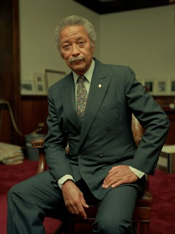 David Dinkins At His Office
