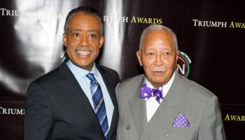 Rev. Al Sharpton (left) and former New York City Mayor David Dinkins attends the 2nd Annual Triumph Awards at the Rose Theater, Jazz at Lincoln Center on October 19, 2011 in New York City.