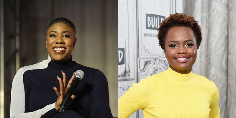 Symone Sanders and Karine Jean-Pierre