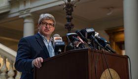 Georgia Secretary Of State Brad Raffensperger Briefs Media On Continuing Vote Count