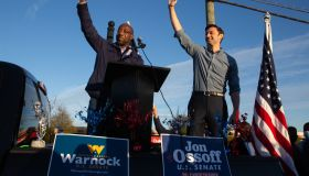 Reverend Warnock And Jon Ossoff Campaign For Georgia Runoff Senate Elections