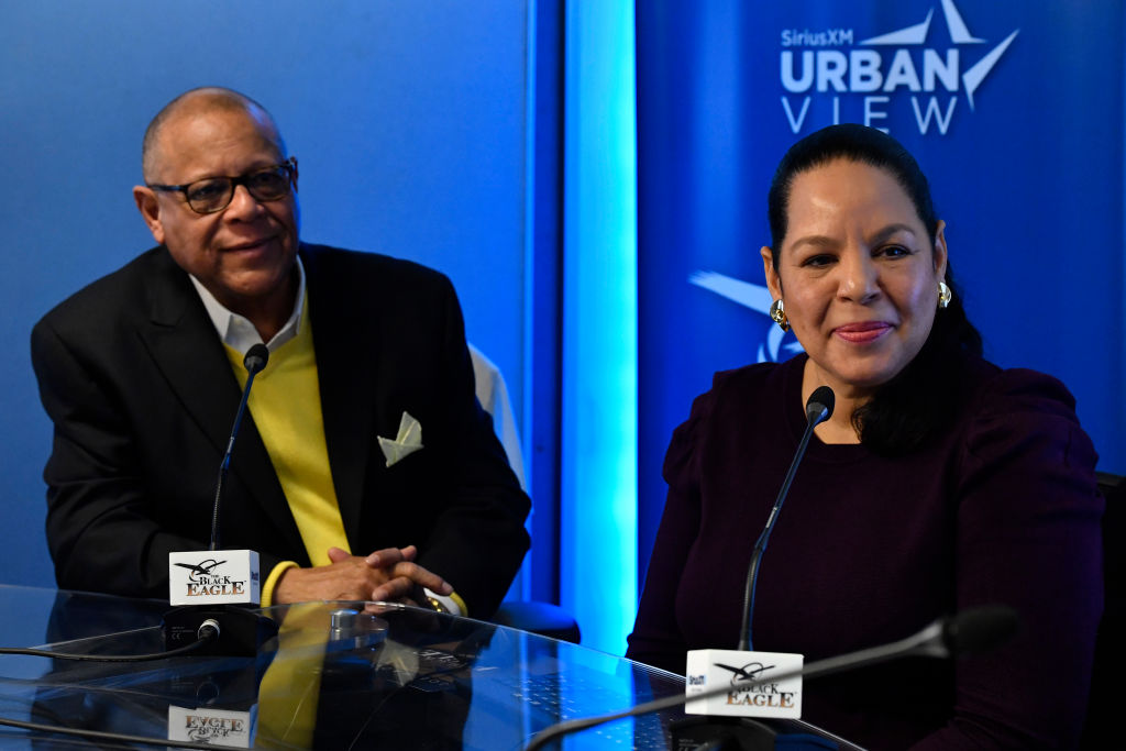 "Patrick Swygert And Leslie Fenwick Visit SiriusXM For Its ""Power Couples"" Series, Hosted By Joe Madison The Black Eagle"