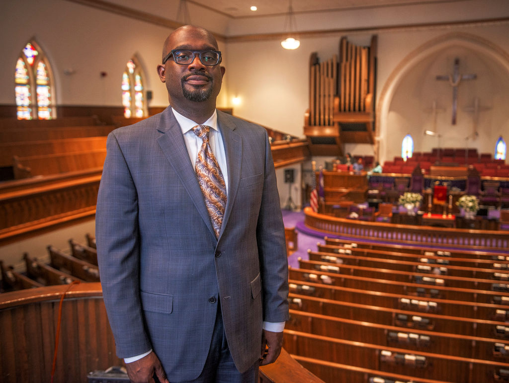 Rev. Bill Lamar, the new pastor of the Metropolitan AME Church, a 150 year old African American congregation that is located in the heart of the nations capitol in Washington, DC.