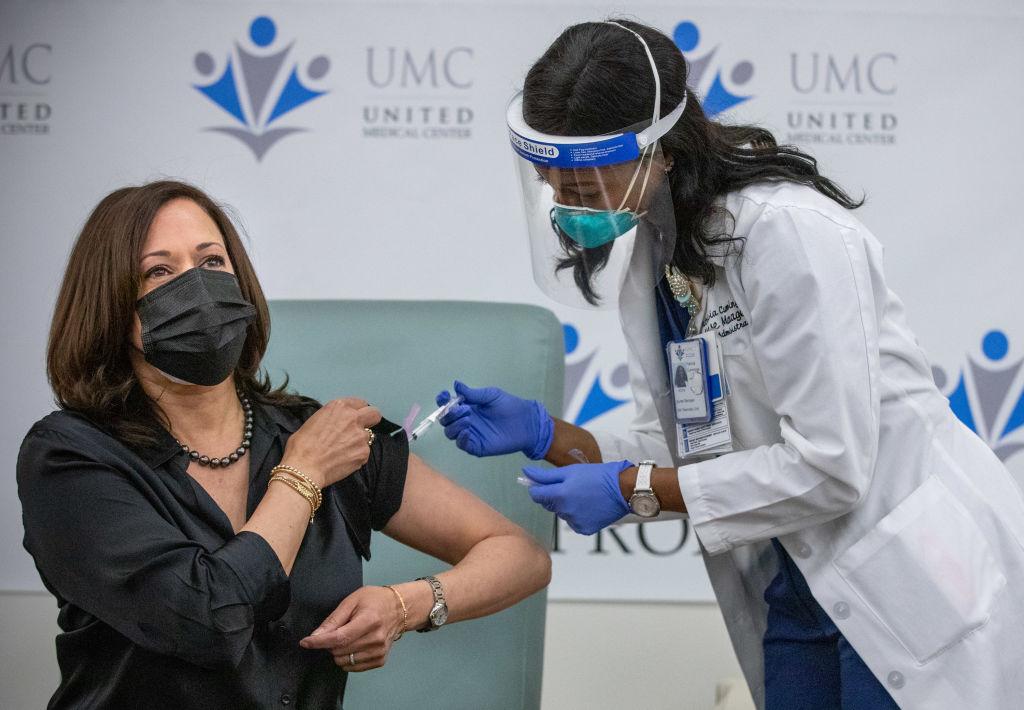 Vice President-elect Kamala Harris gets COVID-19 vaccine