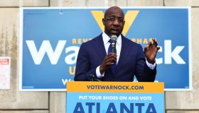 Georgia Democratic Senate Candidate Raphael Warnock Campaigns On Election Day
