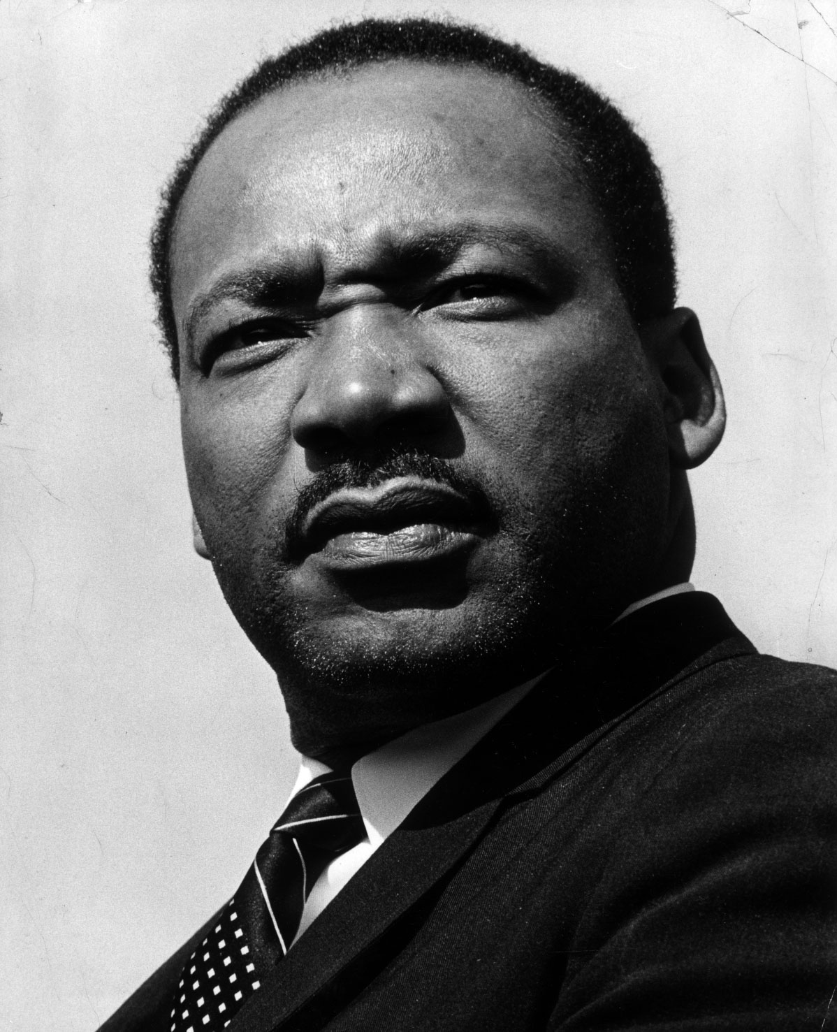 Shown is Martin Luther King Jr. during a 1967 visit to Minneapolis. Minneapolis Star (now Star Tribune) photo by staff photographer Charles Bjorgen.