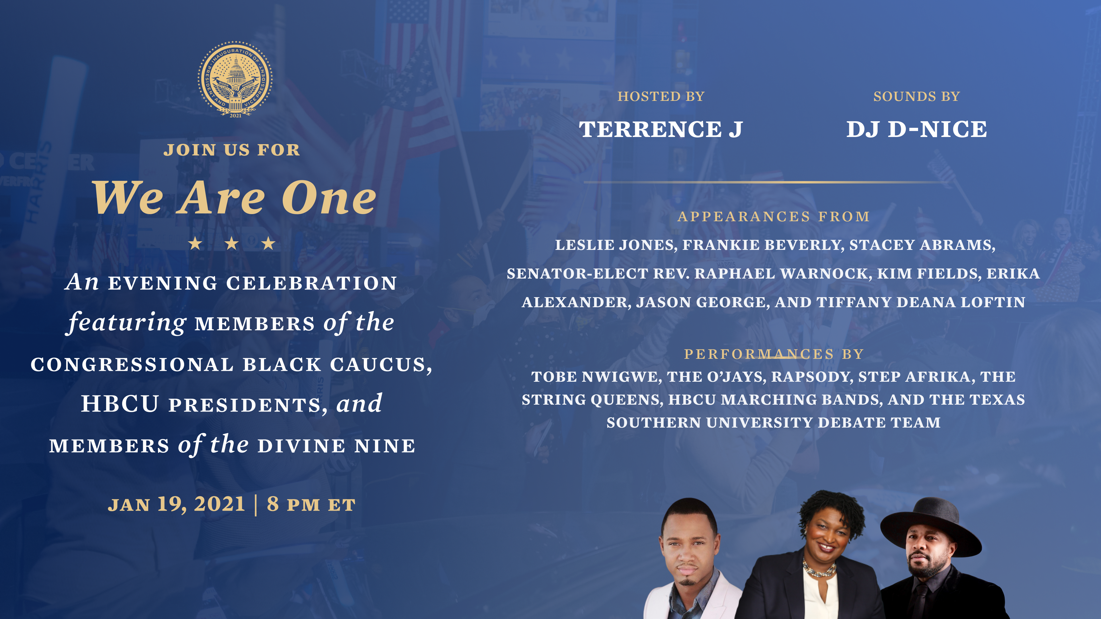 'We Are One': Watch Online Celebration Of The Black Community Before Biden, Harris Inauguration
