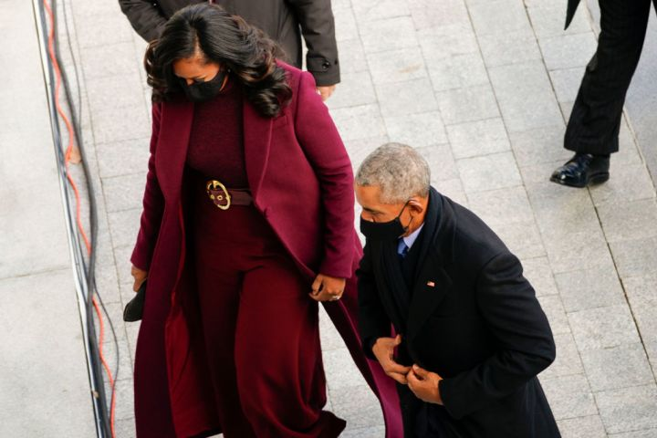 Former President Barack Obama and former First lady Michele Obama arrive
