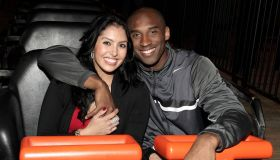 Kobe Bryant Visits Six Flags Magic Mountain