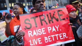 Fast food workers strike