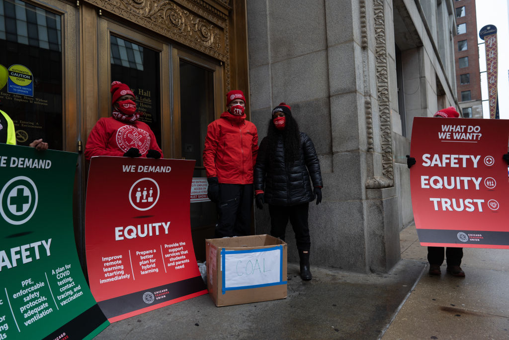 Chicago Teachers Rally For A Safe Return To Schools