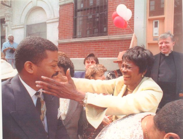 Actress Cicely Tyson at opening of renovated East Harlem Houses in 1994