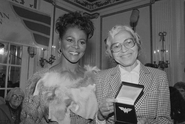 Cicely Tyson and Rosa Parks