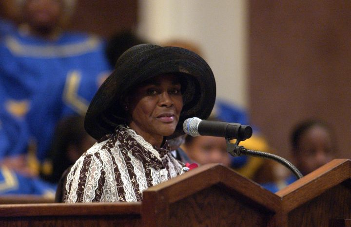 Cicely Tyson at Ray Charles Funeral
