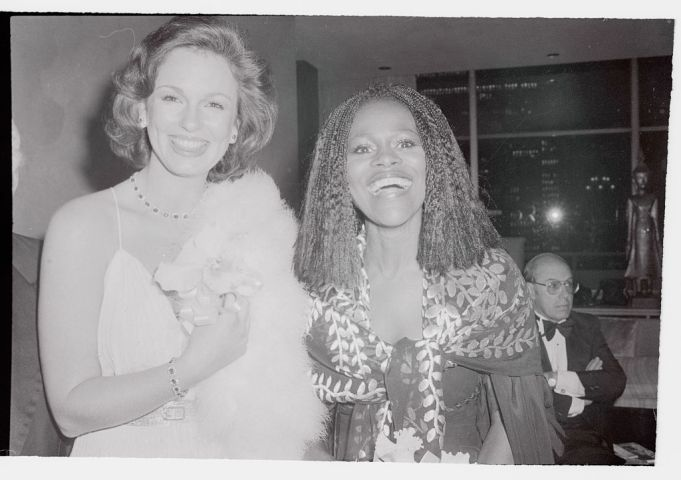 Cicely Tyson and Phyllis George Posing at Fashion Event