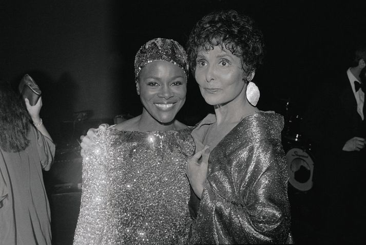 Entertainers Lena Horne and Cicely Tyson Posing Together