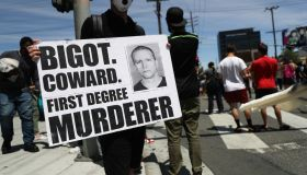 Black Lives Matter Holds Protest In Los Angeles After Death Of George Floyd