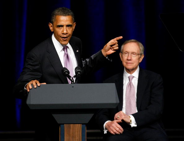 President Obama Joins Harry Reid At Campaign Rally In Las Vegas