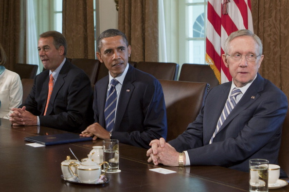 Obama Meets With Congressional Leadership At The White House
