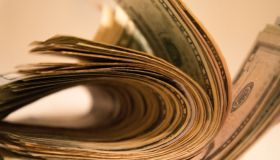 large wad of u.s. paper bills