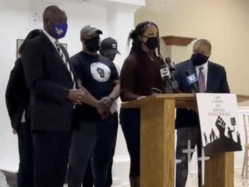 Andre Hill family press conference with Ben Crump