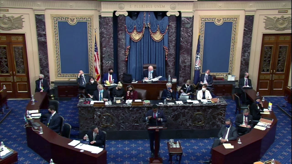 Second Impeachment Trial Of Donald J. Trump Continues In Senate