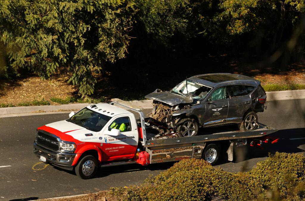 Tiger Woods, car crash, Los Angeles, California