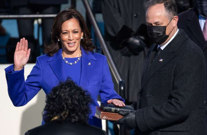 Kamala Harris, first woman and Black woman Vice President of the United States