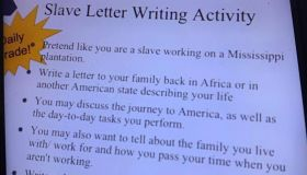 Slave letter writing assignment