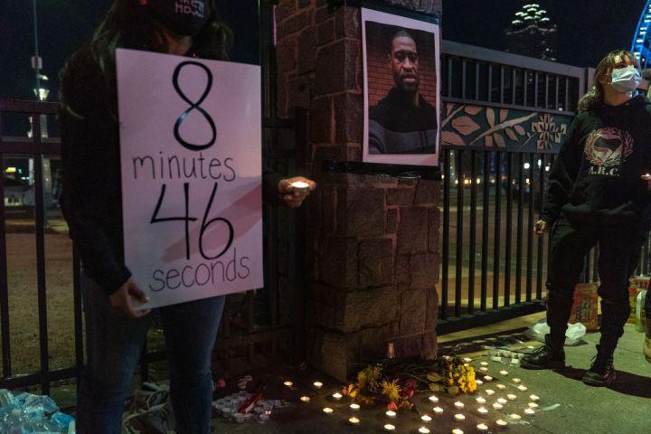 Rally And Vigil Held For George Floyd As Derek Chauvin Trial Begins