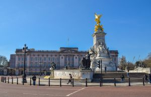A general view of Buckingham Palace in London...