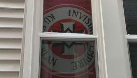 KKK flag in window of Grosse Pointe, Michigan home