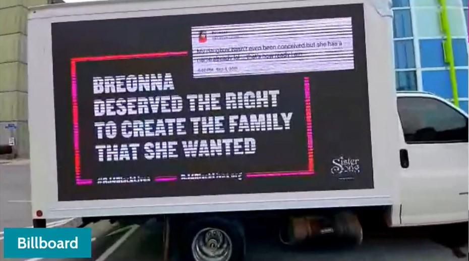 Breonna Taylor Mobile Billboard