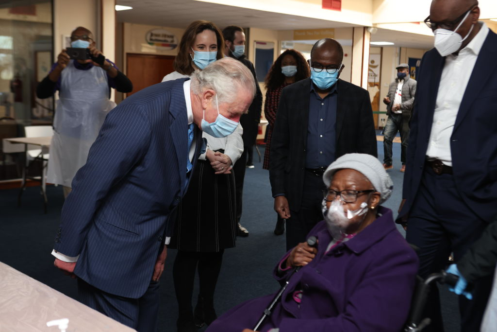 Prince Of Wales And Duchess Of Cornwall Undertake Engagements In London To Thank Those Involved In The COVID-19 Vaccine Rollout
