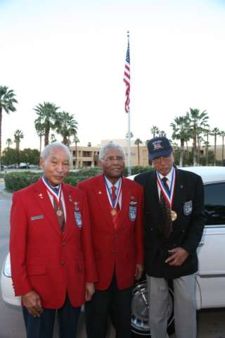 Tuskegee Airmen Pose For A Portrait