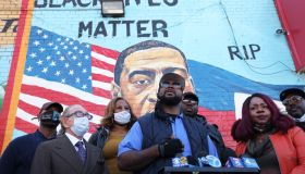 Vigil Held For George Floyd In Brooklyn On His 47th Birthday
