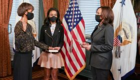 VP Kamala Harris Swears In Cecilia Rouse As The First Black Person To Chair The Council of Economic Advisers