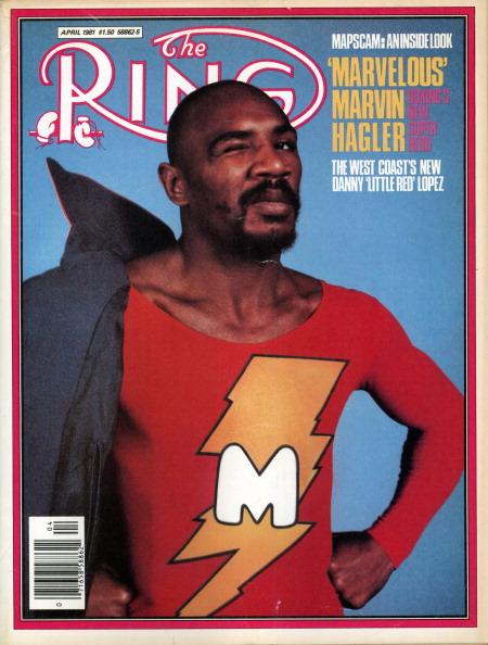 Ring Magazine Cover - Marvin Hagler
