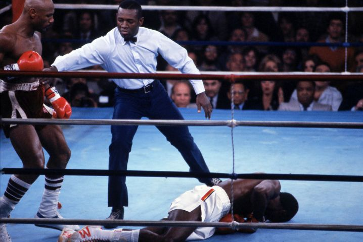 'Marvelous' Marvin Hagler And William 'Caveman' Lee Boxing At Bally's Park Place