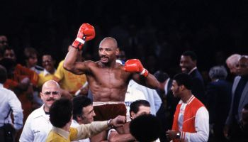 'Marvelous' Marvin Hagler Boxing At Bally's Park Place
