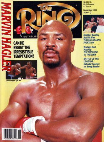 Ring Magazine Cover - Marvin Hagler ...