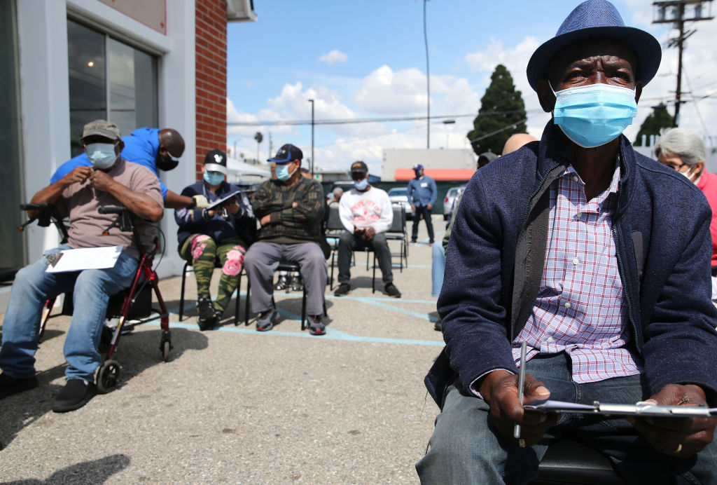 Pop-Up COVID-19 Vaccine Clinic Held At Predominantly Black Church In L.A.