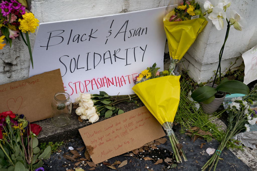 March In Solidarity With Asian Community Held In Atlanta, After Tuesday Night's Massage Parlor Killings