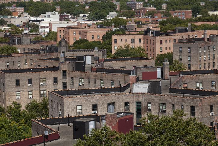 view of Queensbridge Projects from Queens Bridge